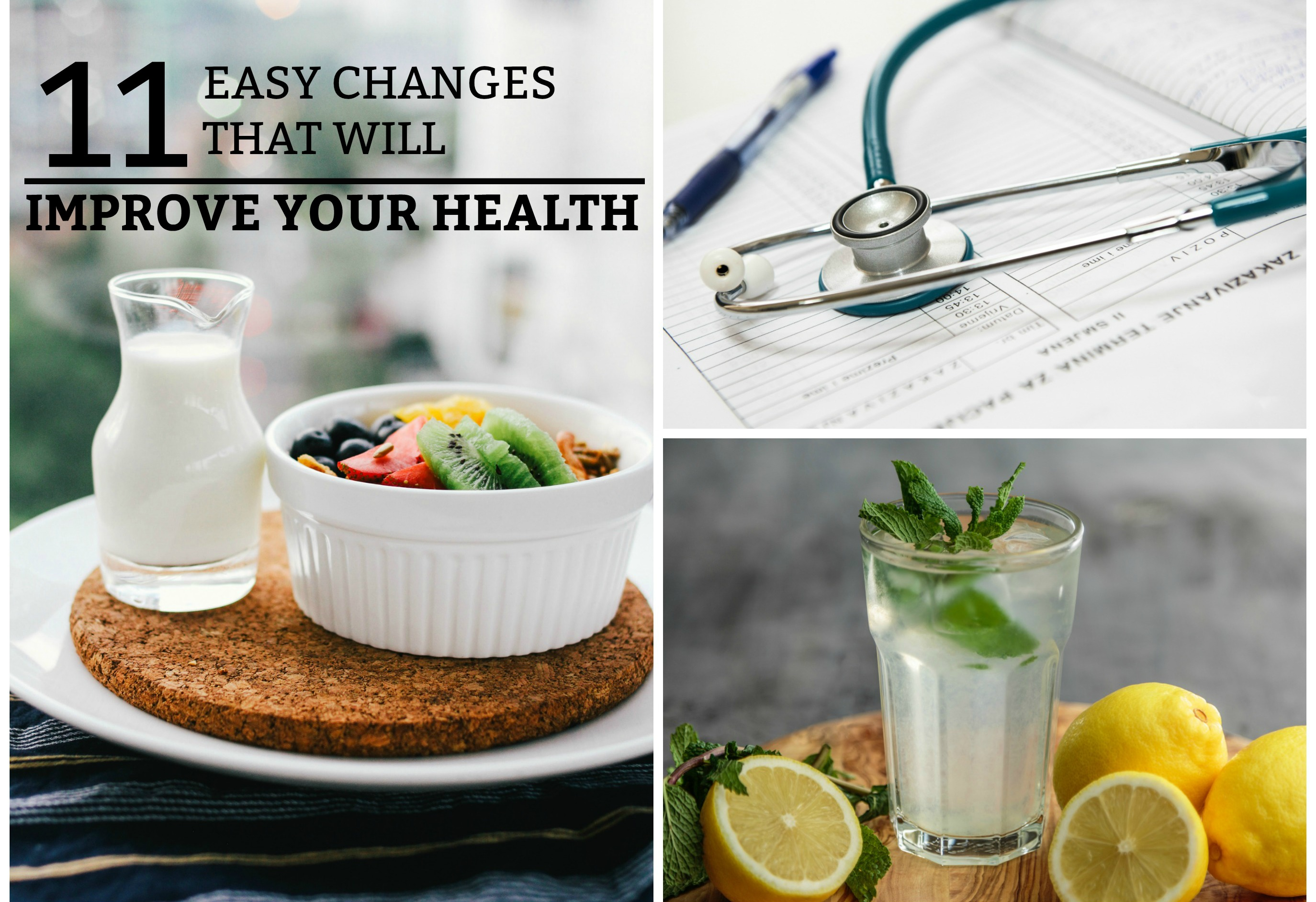 11 Easy Changes That Will Improve Your Health - A practical guide to improving your health with 11 easy steps. www.tradingaverage.com