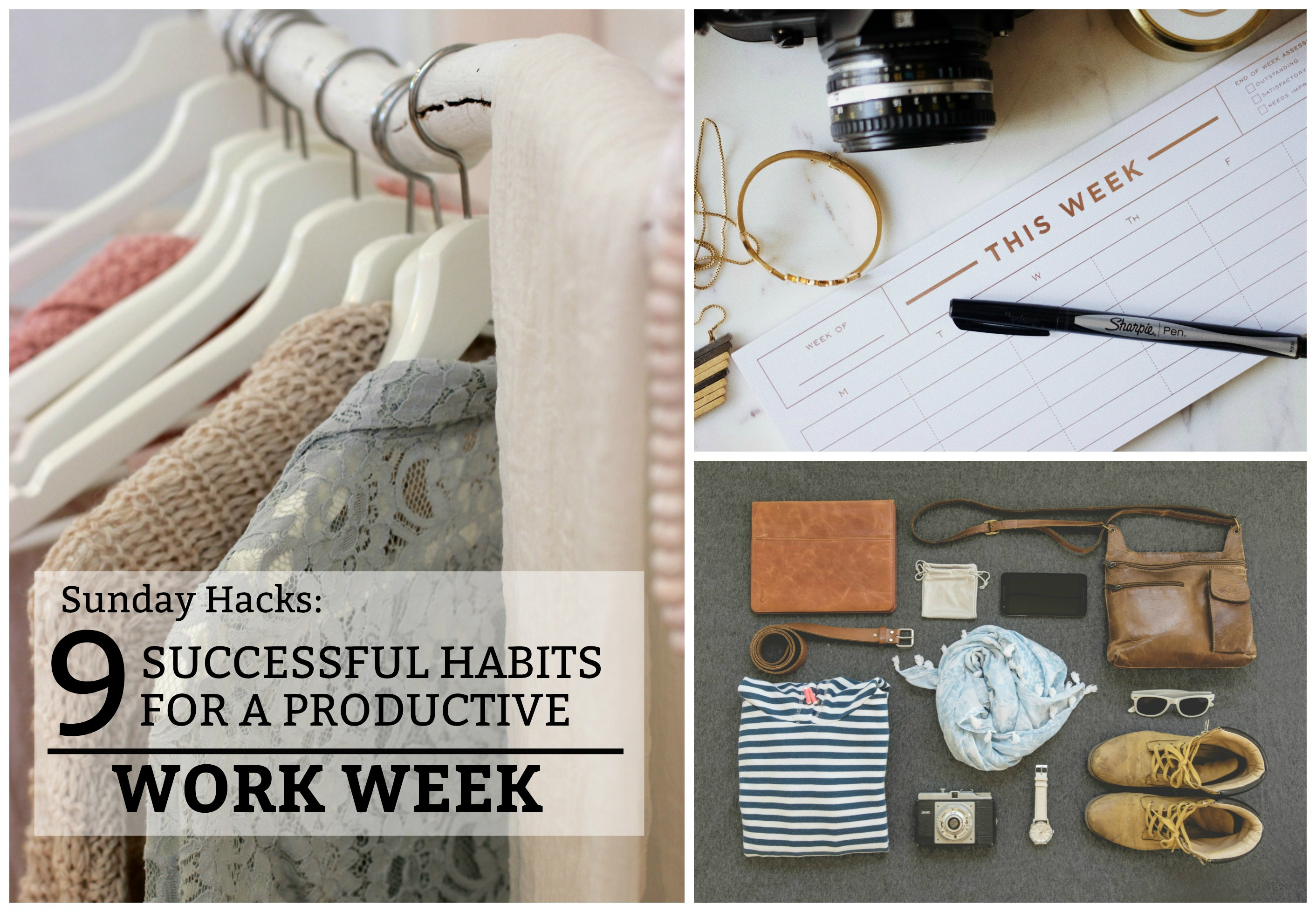 9 Successful Habits for a Productive Work Week - a Sunday to-do list to make your work week easier and more productive. www.tradingaverage.com