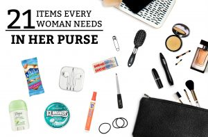 21 Items Every Woman Needs in Her Purse