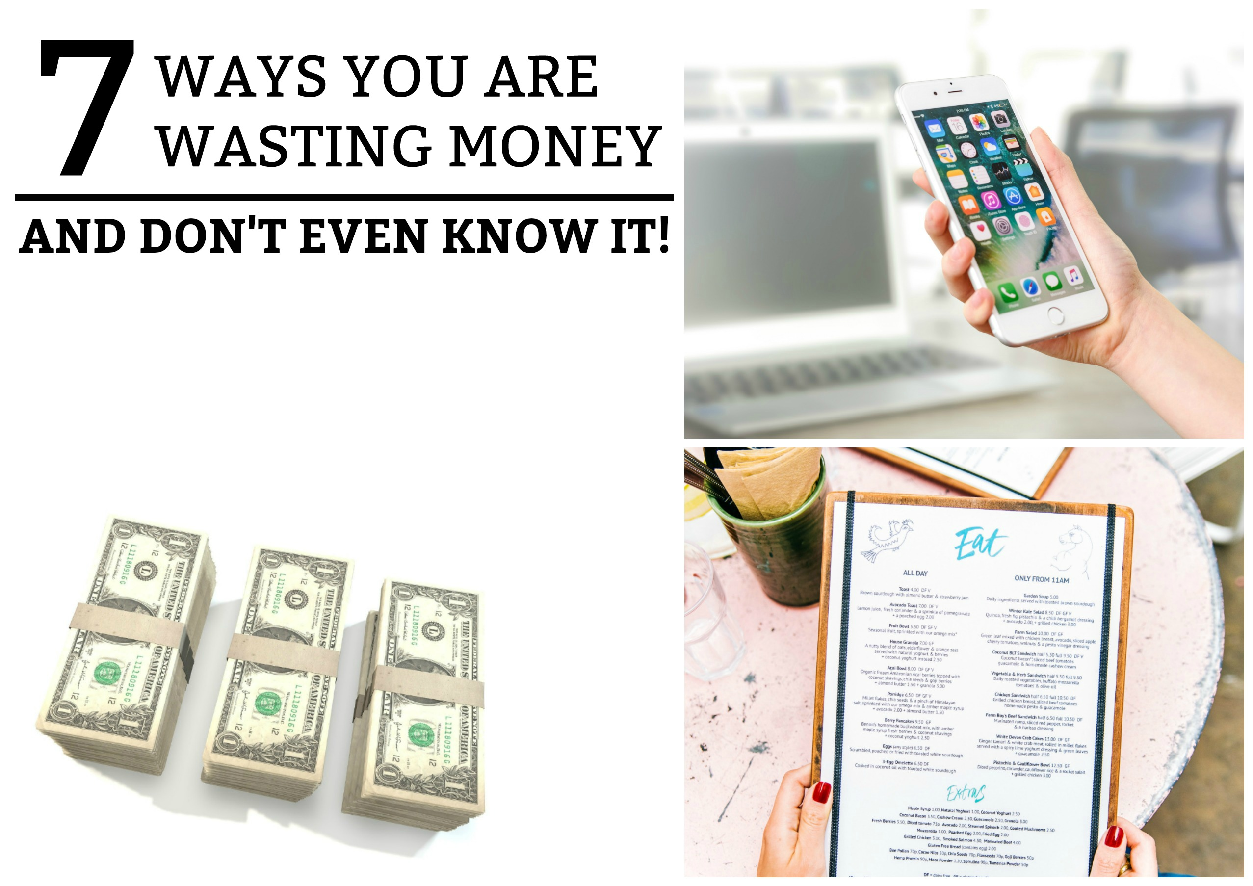7 Ways You Are Wasting Money and Don't Even Know It! is a guide to help you realize the unnecessary expenses that you may not realize you are paying. www.tradingaverage.com